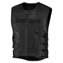 Vesta Icon Regulator D3o™ Leather Vest Black S/M