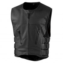 Vesta Icon Regulator D3o Stripped™ Leather Vest Black L/Xl