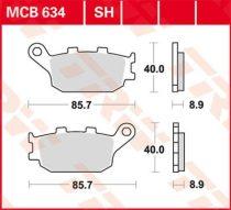 Placute Frana Spate Ceramic Trw Mcb634