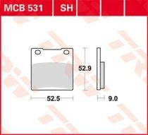 Placute Frana Spate Ceramic Trw Mcb531 3322937089710