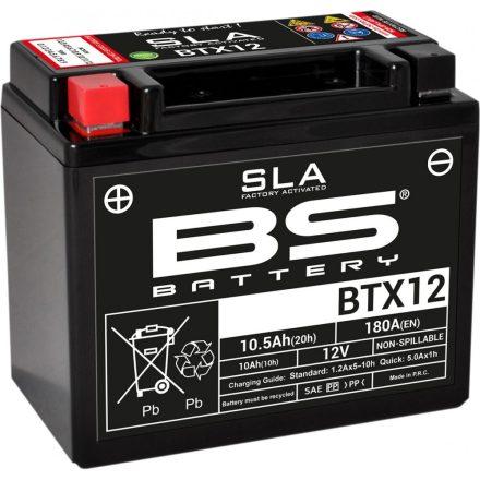 Baterie Acumulator Bs-Battery Btx12 (Ytx12-BS) Sla 12V 10Ah Cca-180A