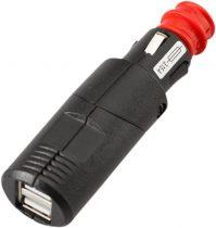 SW-MOTECH ADAPTOR CU 2 USB PENTRU PRIZA BRICHETA 12 V. 2,000 MA CU CORP PIVOTANT