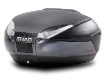 TOP CASE SHAD SH48 Gri inchis cu spatar, capac carbon